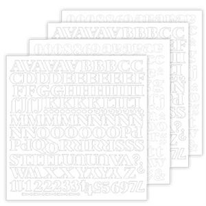 Picture of Black Noir White Alphabet Stickers *SALE* WHILE SUPPLIES LAST